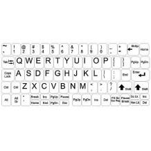 Αυτοκόλλητα πληκτρολογίου - μεγάλο σετ - λευκό φόντο